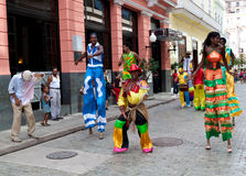 Street entertainers in Old Havana. In the last decade Old Havana has been the center of a restoration process aimed to preserve the architecture and the royalty free stock images