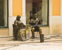 Street entertainers in Portugal stock image