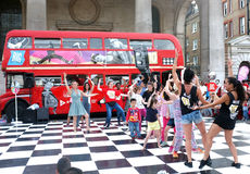 Street entertainment with public in London Stock Photos