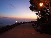 Street in Erice in the evening Royalty Free Stock Photos