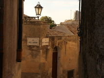 Street in Erice. Little street in Erice near Trapani royalty free stock photography