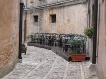 Street in Erice. Little street in Erice near Trapani stock photos