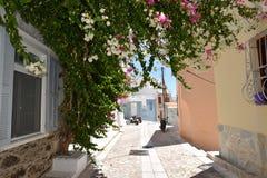 Street in Ermoupoli Syros, Greece Stock Photos
