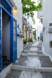 Street in Ermoupolis, Syros island, Cyclades, Greece. Street in Ermoupolis, Syros island, Cyclades Royalty Free Stock Images