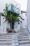 Street in Ermoupolis, Syros island, Cyclades, Greece. Street in Ermoupolis, Syros island, Cyclades Royalty Free Stock Photo