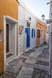 Street in Ermoupolis, Syros island, Cyclades, Greece. Street in Ermoupolis, Syros island, Cyclades Royalty Free Stock Image