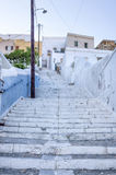 Street in Ermoupolis, Syros island, Cyclades, Greece. Street in Ermoupolis, Syros island, Cyclades Stock Photo