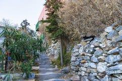 Street in Ermoupolis, Syros island, Cyclades, Greece. Street in Ermoupolis, Syros island, Cyclades Stock Photography