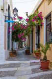 Street in Ermoupolis, Syros island, Cyclades, Greece. Street in Ermoupolis, Syros island, Cyclades Royalty Free Stock Photography