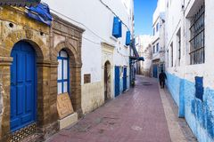 In the street of Essaouira, Morocco Royalty Free Stock Images