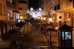 Street of Estepona at night, Spain Royalty Free Stock Photo
