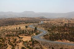 Street in Ethiopia. Street in the Ethiopian Mountains stock photography