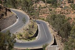 Street in Ethiopia. Street in the Ethiopian Mountains Royalty Free Stock Photos