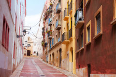 Street of european town. Tarragona Royalty Free Stock Image