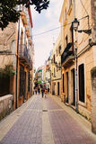 Street at european village Tossa de Mar Royalty Free Stock Photo