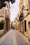 Street at european village Tossa de Mar Royalty Free Stock Photo