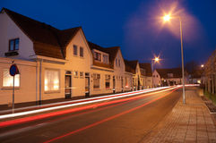 Street in evening Stock Photography
