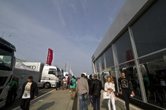 The street event on the DTM car race Stock Images