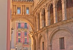 Exterior arches in the cathedral of Valencia. royalty free stock photo