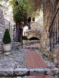 Street in Eze village, France Stock Photography