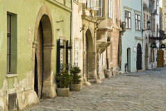 Street facades Royalty Free Stock Photo