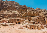Street of Facades in nabatean city of  petra jordan Royalty Free Stock Photos