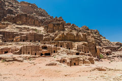 Street of Facades in Nabatean city of  Petra Jordan Stock Photos