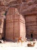 Street of Facades in Petra Stock Image
