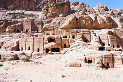 Street of Facades, Petra Royalty Free Stock Images
