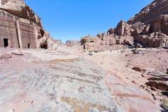 Street of Facades, Petra Stock Image