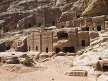Street of Facades, Petra Jordan Royalty Free Stock Images