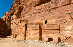 Street of Facades at Petra. UNESCO Heritage Site in Jordan Stock Image