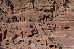 Street of Facades, r. Ancient city of Petra, Jordan. It is now a Stock Photo