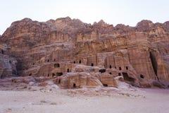 Street facades tombs. Petra. Jordan Stock Image