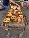 Street Fair BBQ Foods, NJ, USA stock image