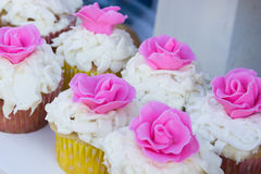 Street Fair Sweet Treats. Cupcakes for sale in at a local street fair Royalty Free Stock Photo