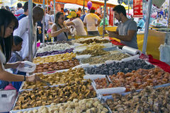 Street fair tend of hand made candies Stock Photos