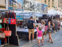 Street fair at 6th Avenue in midtown New York City Stock Photo
