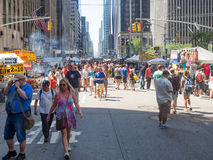 Street fair at 6th Avenue in midtown New York City Royalty Free Stock Image