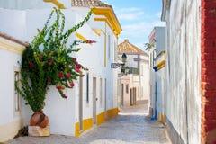 Street in Faro, Portugal. Stock Photos