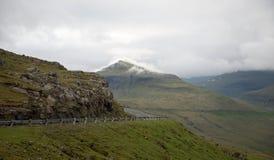 Street on the Faroe Islands Royalty Free Stock Photography