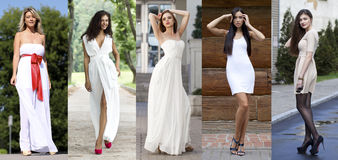 Street Fashion, Beautiful young women Royalty Free Stock Photography