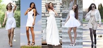 Street Fashion, Beautiful young women Royalty Free Stock Photos