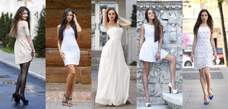 Street Fashion, Beautiful young women Stock Images