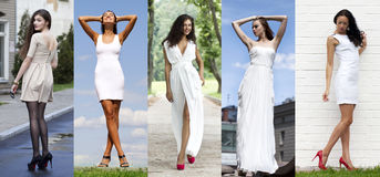 Street Fashion, Beautiful young women Royalty Free Stock Images