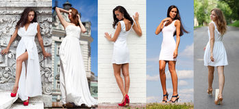 Street Fashion, Beautiful young women Royalty Free Stock Image