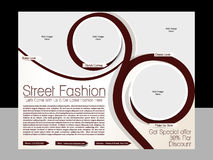 Street Fashion Flyer Template Stock Image