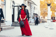 Street fashion, plus size model Royalty Free Stock Images