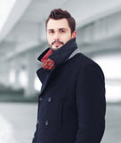 Street fashion portrait handsome man Royalty Free Stock Photos