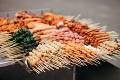 Street Fast Food Meatball Barbecue In Vietnam Stock Photos